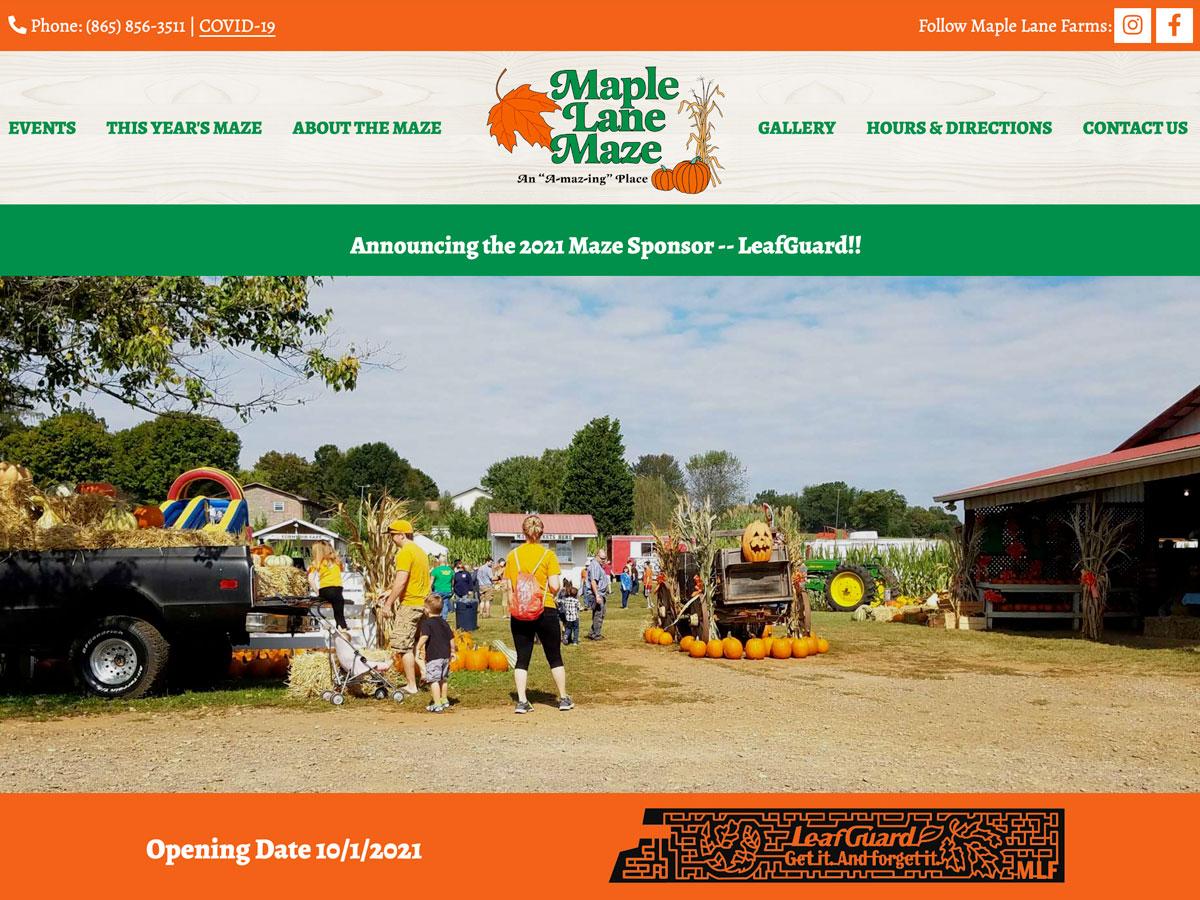 Maple Lane Maze